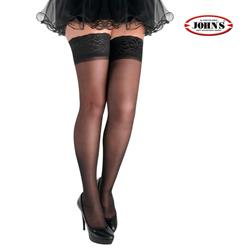 ELASTIC STOCKINGS AG 40 DEN w.SILICONE TOP BAND JOHN'S®