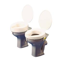 TOILET RAISED DELUXE 5cm ANTI-BACTERIAL(with lid)