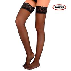 ELASTIC STOCKINGS AG 140 DEN w.SILICONE TOP BAND JOHN'S®