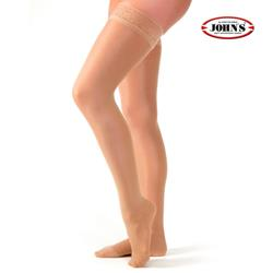 ELASTIC STOCKINGS AG 180 DEN w.SILICONE TOP BAND JOHN'S®