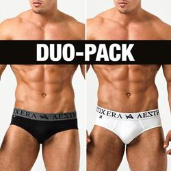 BRIEFS BLACK/WHITE (DUO-PACK)