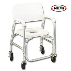 SHOWER CHAIR-ANODIZED ΑΛΟΥΜ -ME ΡΟΔΕΣ/ΛΕΥΚΟ