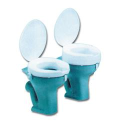 TOILET RAISED DELUXE 10cm /4''ANTI-BACTERIAL(with lid)
